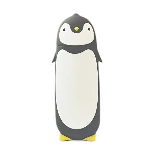 Edelstahl-Thermobecher in niedlichem Pinguin-Design 280ml  grau