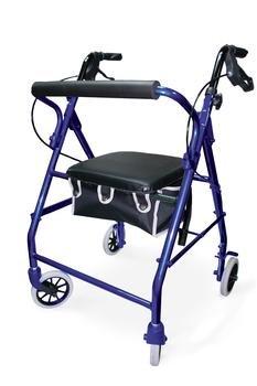 Invacare Blue Lightweight Fold/up/ing Walker Rollator