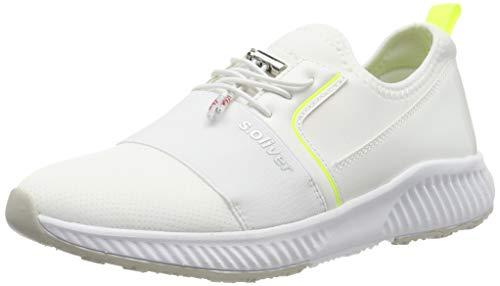 s.Oliver Damen 5-5-23606-23 Sneaker, Weiß (Wht Uni Comb. 139), 38 EU