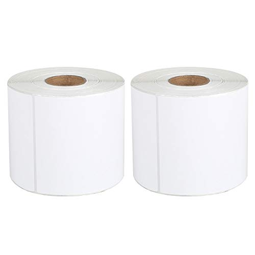 """[2 Rolls, 900 Labels] 4"""" x 6"""" Blank Shipping Labels Compatible with Label Printer(not for dymo 4XL), 450 Labels/roll Direct Thermal Address & Shipping Labels"""