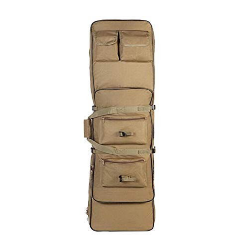 Fouos Tactical Rifle Case Military Rifle Storage Case M4 Gun Bag Pistol Airsoft Backpack for Hunting Tan 32  , 36  , 45  Inch Sizes (32  )