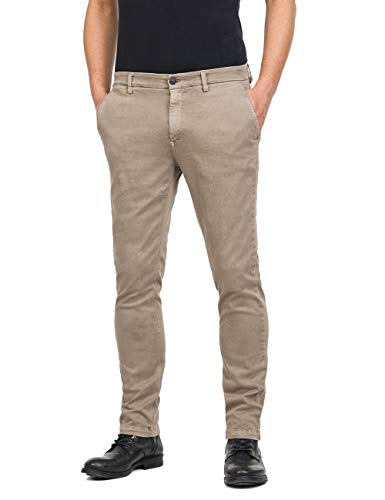 Replay Herren ZEUMAR Slim Jeans, Beige (Sand 20), W32/L32