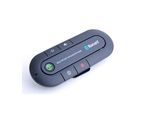 LUFEI Bluetooth Sun Visor Coche Kit con Sensor de Movimiento, Soporte para GPS, música, Altavoces inalámbricos de Manos Libres de Coches, Compatible con iPhone, Samsung Smartphone