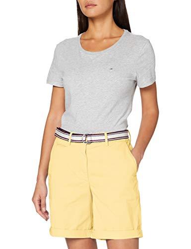 Tommy Hilfiger Damen GMD Cotton Tencel Bermuda Slim Jeans, Gelb (Sunray Zfb), 42 (Herstellergröße: 44)