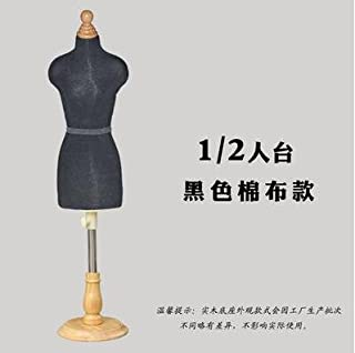 Wholesale Black Wooden Manikin Sewing Jewellery Woman Half Body Mannequin profissional,1:2 Scale Teaching Tailor Disk Base can pin C416