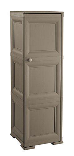 armadio da esterno wenge Tontarelli S.p.A. COLONNINA 3 Moduli Ante Lisce WENGÉ Mobile Contenitore