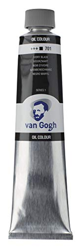 Van Gogh Aceite DE Pintura IVOR, marfil, negro, talla única