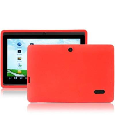 Funda de silicona de color puro for Tablet PC Q88 de 7.0 pulgadas, juego for S-WMC-1692B, S-WMC-1703B, S-WMC-1721W, S-WMC-1722, S-WMC-0375, S-WMC-1511, S -WMC-0093, S-WMC-1703, S-WMC-0107 (Rojo)