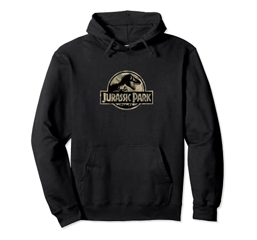 Jurassic Park Circle Logo Camo Sudadera con Capucha