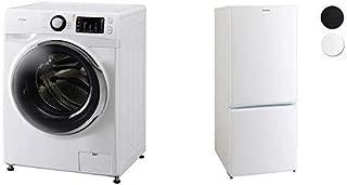 【セット販売】アイリスオーヤマ ドラム式洗濯機 温水洗浄機能付き 左開き 幅595mm 奥行672mm 7.5kg FL71-W/W & 冷蔵庫 156L  2ドア右開き ホワイト AF156-WE セット