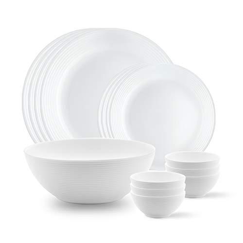 Larah by BOROSIL Opalware Dinner Set - 13 Pieces