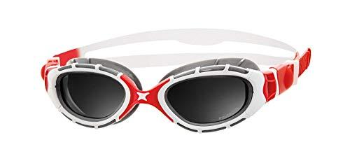Zoggs Predator Flex Gafas de natación, Unisex Adulto, Blanco/Rojo/Plata/Humo, Talla única