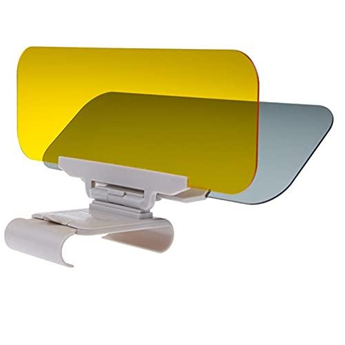 WAZX Coche Sombrilla Día y Noche Visera Sol Anti-Dazzle Gafas Clip-On Clip-On Vehebut Shield para el Claro Visor Visor 721