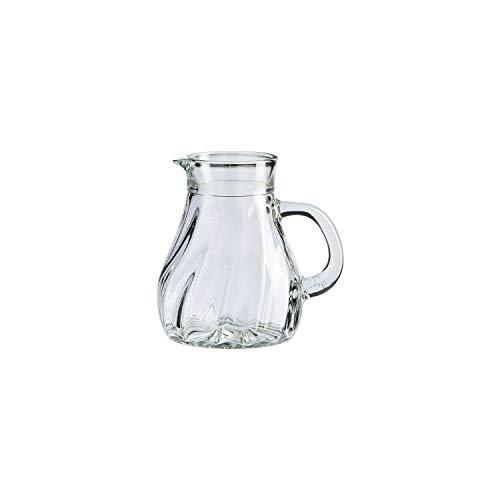 Stölzle Oberglas Salzburg Krug Karaffe Wasserkrug Weinkrug I Spiraloptik 0,25l, 6er Set, spülmaschinenfest, hochwertige Qualität