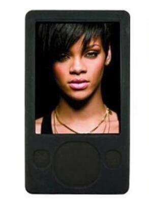 FastSun Microsoft Zune MP3 Player Case Skin, Soft Silicone Rubber Skin Cover Case for Microsoft Zune 80GB 120GB MP3 Player (Black)
