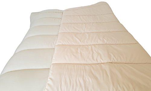 3 SUiSSES Bettdecke Decke Sommerdecke Couette Mikrofaser • Übergröße • Große Größen Wendre (Lin, 240x260cm, 350g/m2)