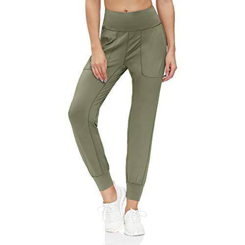 scicent Pantalones de chándal casual para mujer con bolsillos para correr S-XXL
