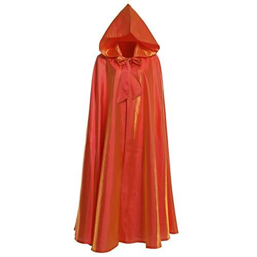 GRACEART Unisex Gotisch Lose Umhang mit Kapuze Mantel Poncho Kap (Orange)