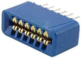 SULLINS EBC06DRXN 12 Position ( 2 x 6 ) 2.54 mm Center Dip Solder Dual Readout Edge Connector - 10 item(s)