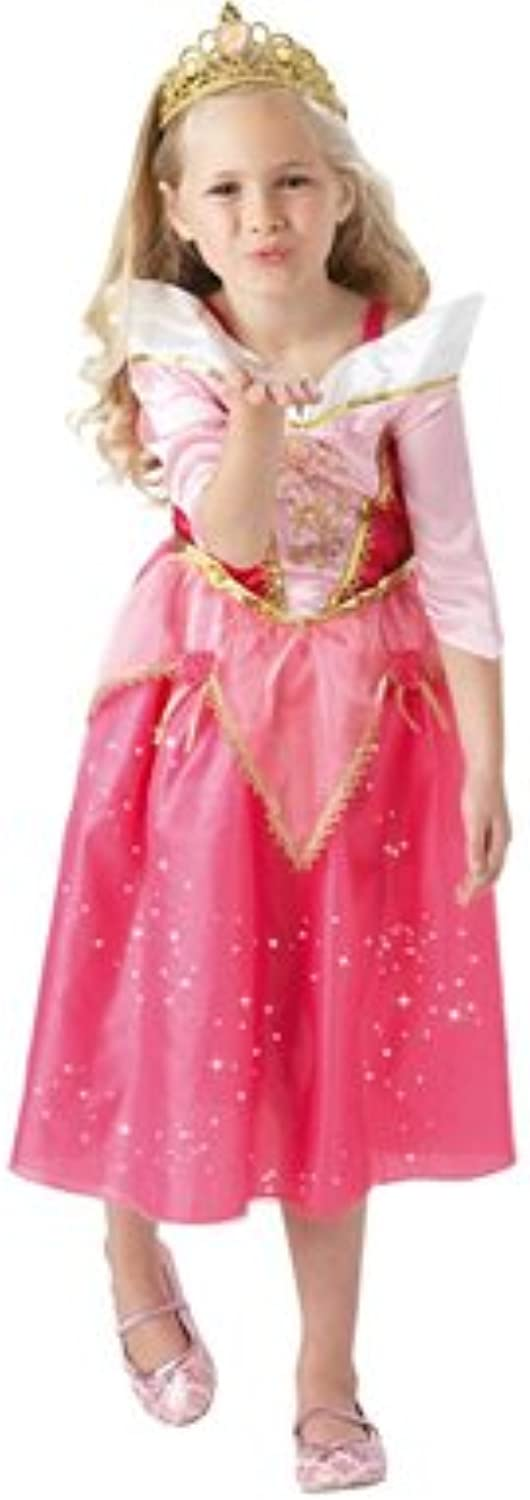 Girls Sparkle Sleeping Beauty Fancy Dress Kids Disney Princess Costume