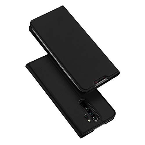 DUX DUCIS Hülle für Xiaomi Redmi Note 8 Pro, Leder Flip Handyhülle Schutzhülle Tasche Case mit [Kartenfach] [Standfunktion] [Magnetverschluss] für Xiaomi Redmi Note 8 Pro (Schwarz)