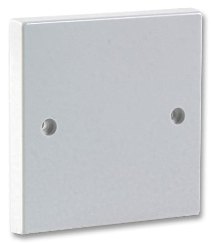Invero Pack of 1 - Single Gang Electrical Blanking Plate - Standard White Cover Plate for 1 Gang Plug Socket - Square Finish Edge