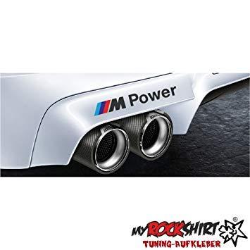 myrockshirt M Power Kompatibel für BMW Auspuff 15cm Aufkleber Tuning Scheibe Lack
