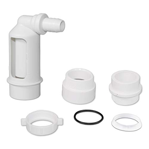 Water Filter/Softener Air Gap with 1/2-inch Barb Connector for Installation on a 1-1/2-inch Standpipe with PVC Trap Adapters.