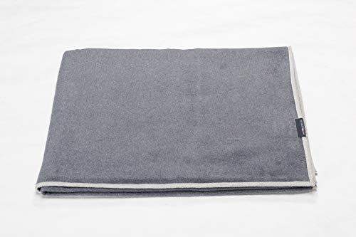 David Fussenegger - Velvet - Plaid - Decke - Bettüberwurf - Tagesdecke - Wendedecke - Uni - grau - 135 x 200 cm