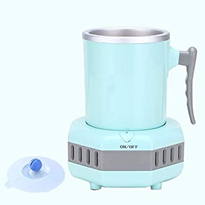 WENKOEBY Mini Ice Maker Machine, Portable Instant Cooling Cup, Cooling Cup Electric Quick, Quick Ice Making in 15 Minutes, Home Office Car Cold Drink Machine Small Appliance Kettle(blue)