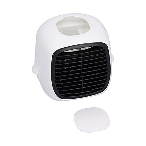 Enfriador de Aire evaporativo Personal portátil Refrigeración, humidificación y purificación de Aire, para Oficina, Sala de Estar, Cocina, Dormitorio, baño, Color Blanco