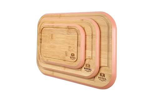 Thick Bamboo Wood Cutting Board / Kitchen Butcher Block - Heavy Duty Chopping Board With Juice Grooves and Handles. Best for Carving Meat, Fish and Chicken   Perfect Housewarming Gift