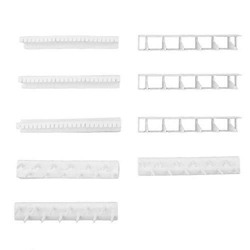 9 piezas montado en la pared anillo de pendiente collar soporte de suspensión soporte autoadhesivo ganchos de almacenamiento de joyería estante organizador de exhibición de joyería, blanco, Italia