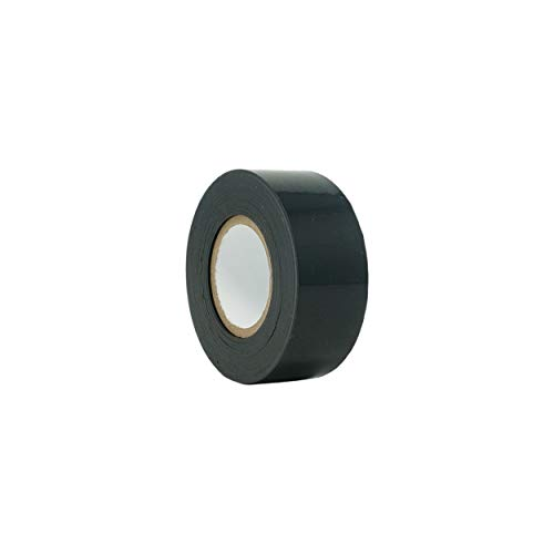 TapeCase TC790 Dry Vinyl Tape - 1 in. x 100 ft. Black Chrome Plating Tape Roll with High Conformability. Adhesive Tapes