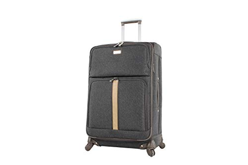 Find Bargain Nicole Miller Cameron Collection 28 Expandable Luggage Spinner (28in, Cameron Black)