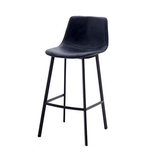 ZfgG barkruk van leer grijs modern dining stoel slijtvast valse barstools voetensteun voor keuken of bar, barstoelen, slijtvast kunstzitje voetensteun restaurant caf