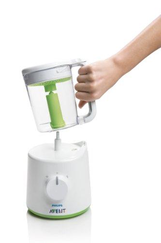 Philips Avent 2-in-1 Babynahrungszubereiter SCF870/20, Dampfgaren und Mixen, 800ml Kapazität, weiß - 4