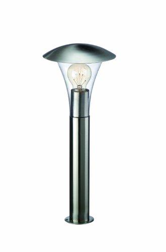 Massive Beaumont - Poste, iluminación exterior, corriente alterna, E27, acero inoxidable y...