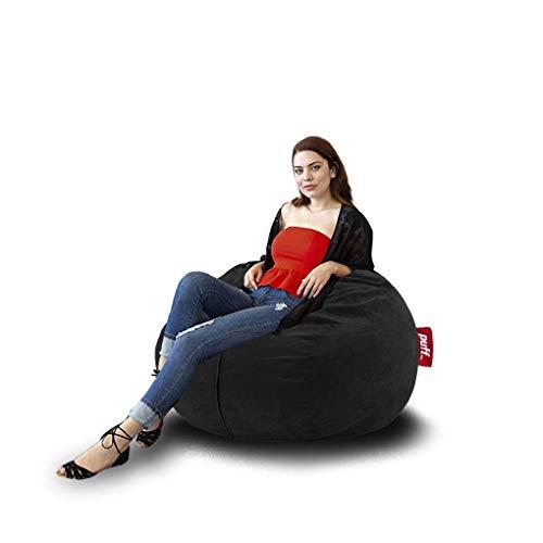 Sillón con cama individual color negro para jóvenes y adultos con relleno de hule espuma muy cómodo para un mejor descanso, acabado...