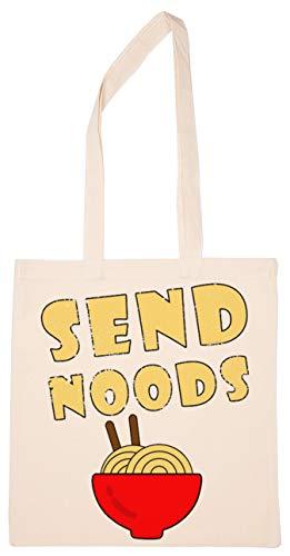Enigmae Send Noods Noodles Ramen Reutilizable Compras Tienda de Comestibles Algodón Bolsa Reusable Shopping Bag