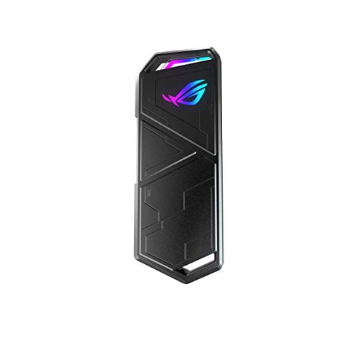 ASUS ROG STRIX Arion Alumínio liga M.2 NVMe SSD Externo Portátil Enclosure Adaptador, USB 3.2 Gen 2 Tipo-C (10 Gbps), USB-C para C e USB-C para A, Cabe PCIe 2280/2260/2242/2230 M Tecla/B+M