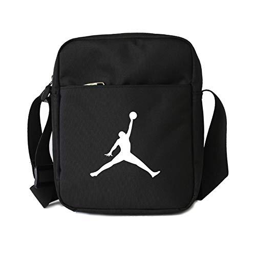 Haoshangzh55 Michael Jordan Basketball-Fans Umhängetasche Männer Umhängetasche Kleiner Rucksack Männer und Frauen,Schwarz