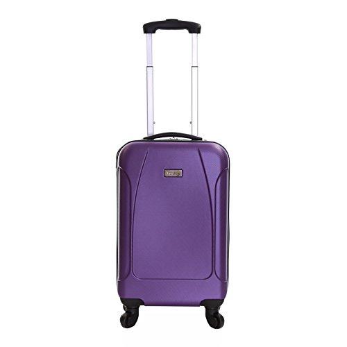 Karabar Hard Cabin Carry-on Hand Luggage Suitcase Bag 55 cm 2.4 kg 35 litres 4 wheels, Evora Purple