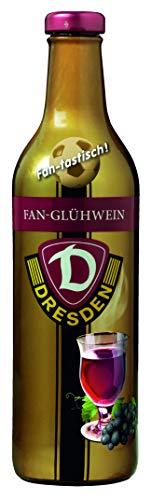Dresdner Striezel Glühwein-Dynamo Dresden Fan Fruchtglühwein in der metallisierten Vollsleeve Flasche mit dem Motiv des Dynamo Dresden Stadion 6 x 0,75l