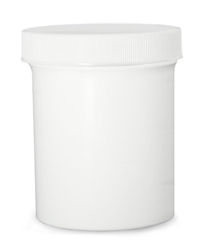 Qorpak PLC-07185 Polypropylene Jar with 53-400 SturdeeSeal Polyethylene Foam Linerless Cap, White, 2oz Capacity, 51mm OD x 48mm Height (Case of 48)
