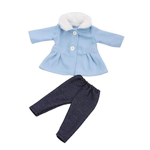 DUORUI Ropa de Muñeca Vestido Abrigo de Invierno de Cuello de Peluche con Pantalones para Muñeca New Born Baby de 18 Pulgadas