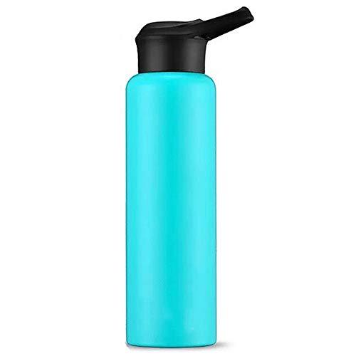 Vakuum-Edelstahl-Vakuumflasche mit Bonus-Sportdeckel - Doppelwandige Konstruktion - Perfekter auslaufsicherer Verbrühschutzbecher - Tragbar für den Outdoor-Rucksack,Blue
