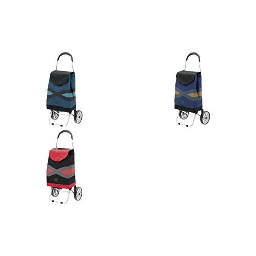 secc Einkaufstrolley Geometrix, 28 Liter, schwarz/blau