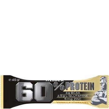 24x WEIDER 60% PROTEIN BAR 45g, con BCAA e GLUTAMMINA, 27g di proteine per barretta! (GUSTI ASSORTITI) + OMAGGIO - NT INTEGRATORI