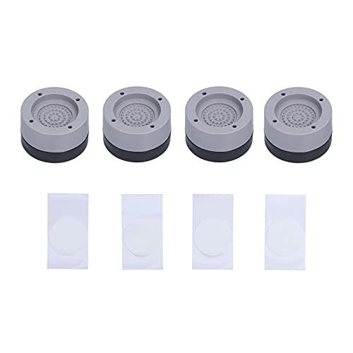 BigKing Cuscinetto Anti-Vibrazione per Lavatrice, 4 Pezzi di Supporto per Lavatrice Anti-Vibrazione Antiscivolo per Lavatrice per mobili di elettrodomestici